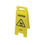 CAUTION 2 SIDE FLOOR SIGN 26X11X12 MULTILINGAL YELLOW