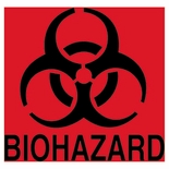 Optional Biohazard Identification Decals for Waste Containers