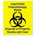 Optional Chemotherapy Waste Identification Decals for Waste Containers