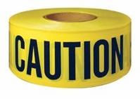 "3"" X 300' CAUTION TAPE BLACK/YELLOW /16 rolls per case"