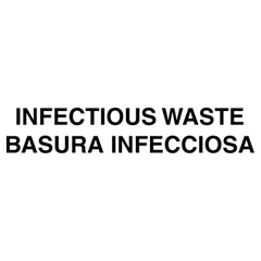 Optional Infectious Waste Identification Decals for Waste Containers, Bi-Lingual
