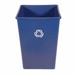 SQ RECYCL RECEPTACLE 35 GAL BLUE
