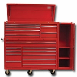 "56"" 16 DWR STD DUTY TOOL BOX COMBO W/SIDEBOX RED"