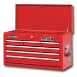 "CHEST 26"" 6 DRAWER-RED PRO MAXX SERIES"