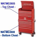 CHEST 5DR 36IN RED MAGNUM