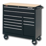 "40"" 10 DRAWER BALL BEARING TOOL CABINET BLACK"