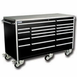 "72"" 18 DRAWER ROLLER CABINET TOOLBOX - BLACK"