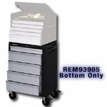 "26"" 5 DRWR TREAD PLATE ROLLER CABINET,BLK&SILVER"