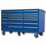 "BLUE 72"" 18 DRAWER TOOL CABINET"