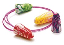 SPARKPLUGS MULTI-COLOR FOAM EAR PLUGS CORDED ( 100 PAIR PER BOX)