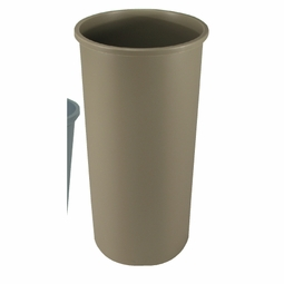 """BRUTE TOUCH-FREE ROUND RECEPTACLE 30-1/8"""" GRAY"""