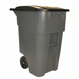 BRUTE ROLL OUT CONTAINER W/LID 50 GAL 46-7/8H GRAY