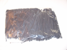 "8"" black cable ties bag of 1000"