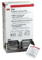 3M ALCOHOL FREE RESPIRATOR CLEANING WIPE 100 per box
