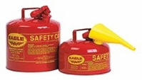 5 GAL TYPE 1 SAFETY CAN W/F-15 FUNNEL RED