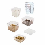 Square Storage Containers & Lids