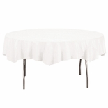 TABLE COVER PAPER ROUND 82IN WHITE