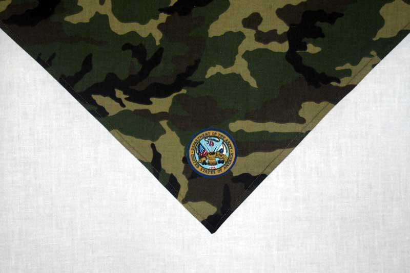 Dog Scarf | US Army Woodland Camouflage with Insignia