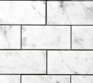"(Sample) Carrara Venato Marble Honed 3x6"" Subway Tile"