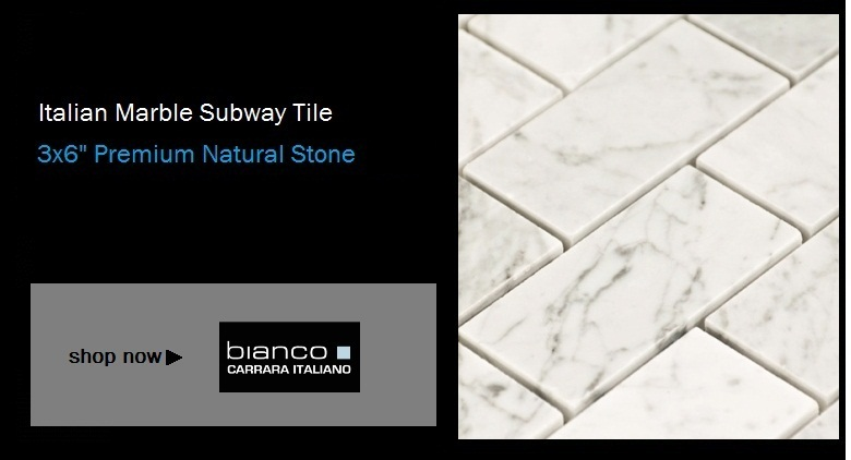 $7.00SF Italian Carrara Subway Tile