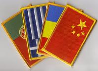 Country Flag Patches - Rectangle