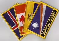 Country Flag Patches - Rectangle With Name