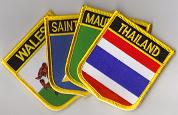 Country Flag Patches - Shield