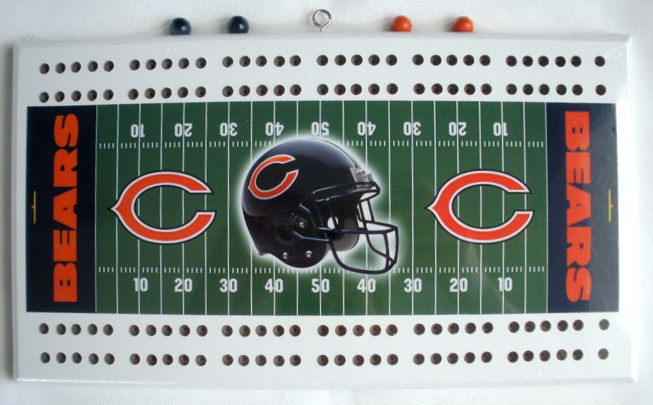 Chicago Bears Soldier Field Football Cribbage Boards