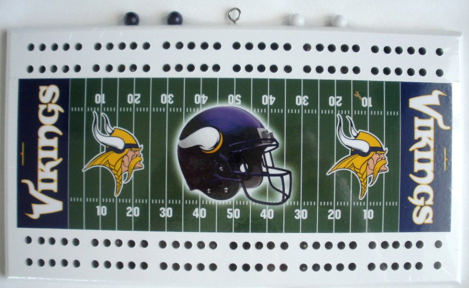 Minnesota Vikings Metrodome Football Cribbage Boards