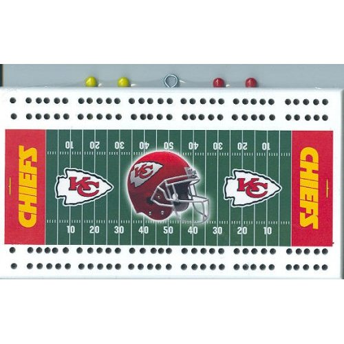 Kansas City Chiefs NFL Cribbage Boards