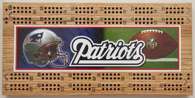 Patriots Cribbage Boards