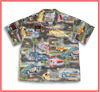 Grey Nostalgic Funny Car Hawaiian Shirt