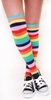 S002-Rainbow Stripe Knee High Socks (One Size)