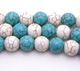 Howlite blue & White Round 8mm