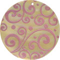 Mother of pearl shell round in pink