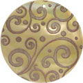 Mother of pearl shell round in toffee