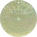 Mother of pearl shell round in celedon