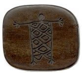 Tiger ebony square wooden bead