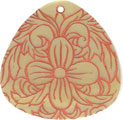 Mother of pearl shell triangle in orange