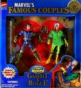 Toy Biz Marvel Famous Couples Gambit and Rogue Figure Set