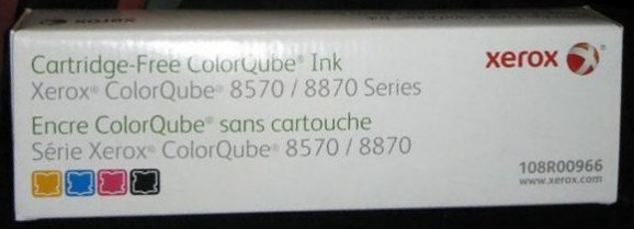 PCC Part# PCC8570RP GENUINE XEROX SOLID INK for Xerox 8570 8870 XEROX Rainbow Boxed Retail Pack Rainbox Pack Box includes Cyan, Magenta, Yellow & Black - One Stick Each Color PCC Part# PCC8570RP