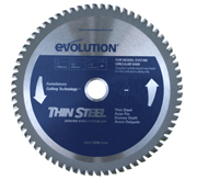"Evolution 7"" TCT Thin Steel Cutting Blade for EVO180V2 Saw"