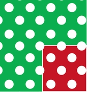 "Christmas Polka Dot Reversible 24""x417'"