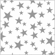 Silver Stars on White