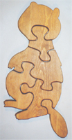 Wooden Educational Jig-Saw Puzzle - Beaver