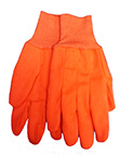 Fluorescent Orange PolyCotton Canvas Glove