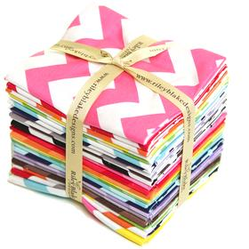 Medium Chevron Fat Quarter Bundle By Riley Blake SKU# FQ-320-24