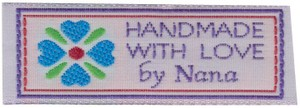 Handmade with Love By Nana Quilt Label 2 count