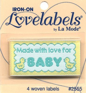 Label Made with Love for Baby Iron-on 4 ct