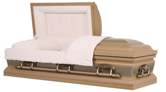 "Stainless Steel Casket - ""Tribune Fawn"""